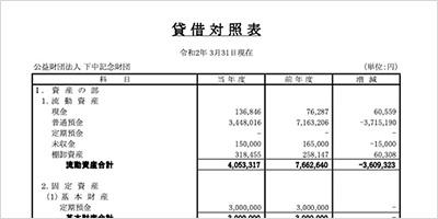 下中記念財団 第8期 会計報告