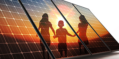 鉛フリーのペロブスカイト型太陽電池の研究
